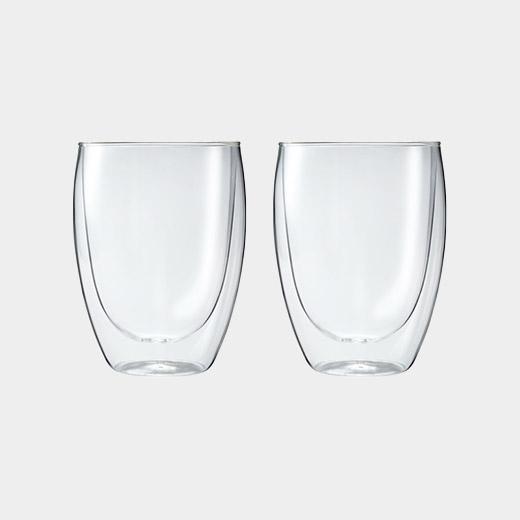 MoMA PAVINA ダブルウォールグラス 350ml (2個セット)